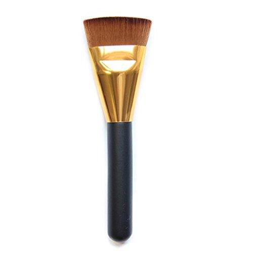Pro Cosmétique Poignée en bois Poudre Fond de Teint Visage Brosse Plat doux Pinceau de maquillage