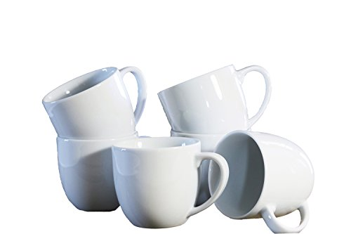 Porzellan Granvogl 6er Set Kaffeetassen aus hochwertigem Porzellan, weiß, 9.00 x 9.00 x 9.00 cm, 6...