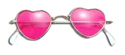 Fancy Dress 70s - 60s 70s Hippy Glasses Pink