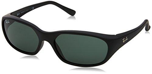 Ray-Ban Herren 0RB2016 W2578 59 Sonnenbrille, Matte Black/Crystal Green,