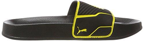 Puma Leadcat Ts Bvb, Pantofole Unisex – Adulto Nero (Puma Black-cyber Yellow)