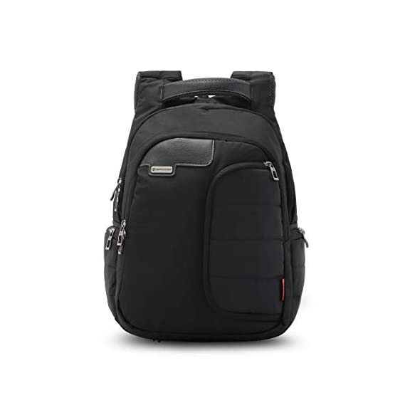 Harissons Vervo Laptop Backpack for Men and Women - Bag with Built-in Waterproof Rain Cover - Fits Laptop Up to 14 Inch (Black) (40 Ltrs)