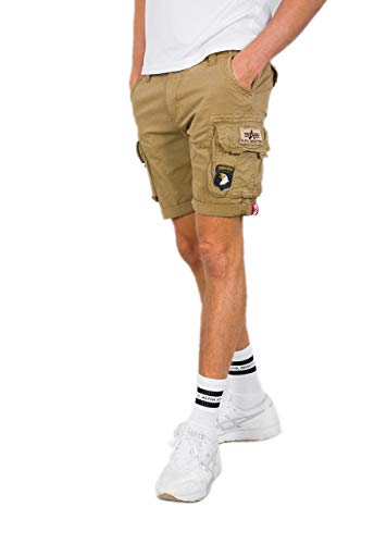 Alpha Industries Crew Patch Shorts (34, Sand)