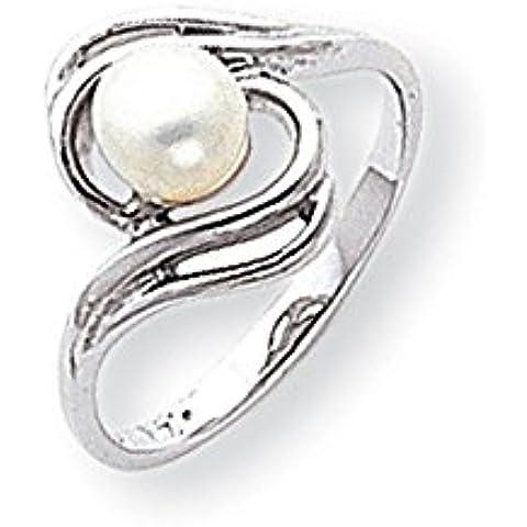 Oro bianco 14k anello di 5,5 millimetri Pearl di UKGems - 14k White Gold 5.5mm Pearl ring by UKGems