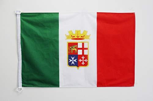 Az flag bandiera italia marina militare 90x60cm per esterno - bandiera italiana navale 60 x 90 cm