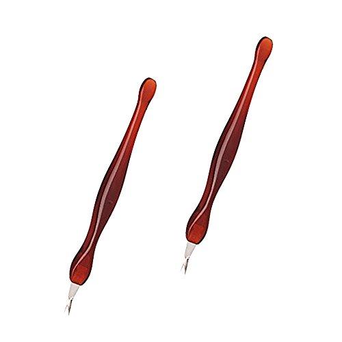 Maniküre Clipper Nagelhaut Trimmer (Asien 2 Stück Praktische Nagelkunstwerkzeuge Pediküre Nagelhaut Clipper Dead Skin Callus Gabel Entfernung Braun)