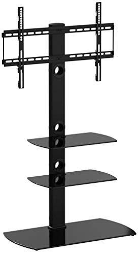 FITUEYES TV Standfuß TV Ständer TV Bodenständer Fernsehstand Höhenverstellbar Drehbar für 32 bis 65 Zoll Max.VESA 400x600 TT306501GB