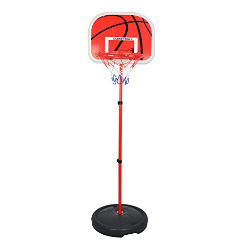 LDB SHOP 73-170cm Kinder Einstellbare Basketballständer Basketballkorb Basketball-Backboard Ständer Hoop Set (Basketball Hoops Einstellbar)
