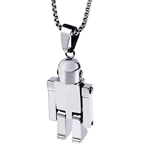 L&H Edelstahl Roboter Anhänger Halskette Personalisierte Hände Und Füße Aktivität Schmuck Mit Geschenkbox