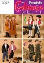 Kid Kinder Kostüm Cowboy - Simplicity Kostüme (8verschiedene) für Kinder # 3997(4918) Cowboy/Mädchen, Pirate Girl/Boy, 1950's Girl/Boy, Military Girl/Boy