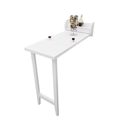 WRRAC-Tabelle Zuhause Stehtisch Multifunktion Küche Esstisch Faltbar Convertible Workstation Modern Kompakter Wandschreibtisch Platz sparen Premium Holz (Farbe: Weiß) - Kompakter Esstisch