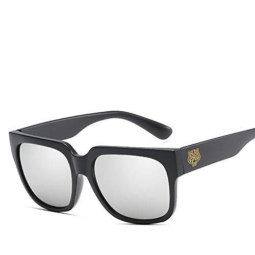 REALIKE Unisex Damen Herren Leopardenmuster Quadrat Rahmen Transparent Sonnenbrille Anti-UV...