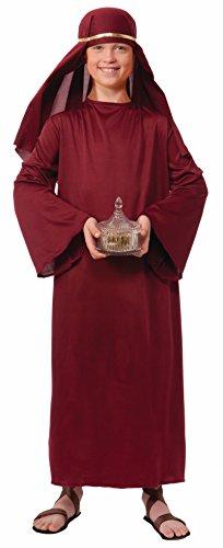 Kostüm Kleid Shepherd - Forum Novelties Biblical Times Shepherd Burgundy Kostüm Kleid, Child Medium