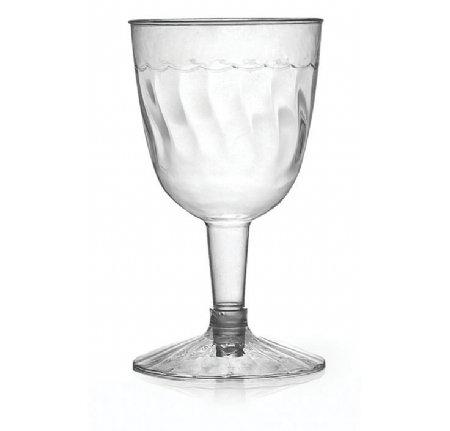 Lot de 20 verre à vin en plastique transparent – 140ml
