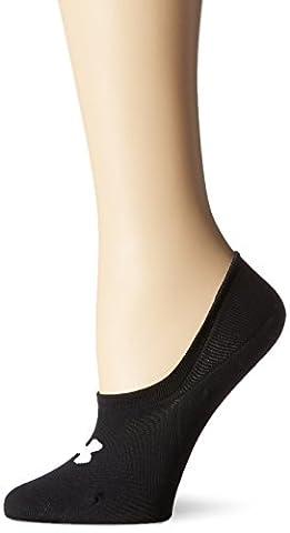 Under Armour Women's UA Essential Ultra Low Liner Socks, Black, Medium