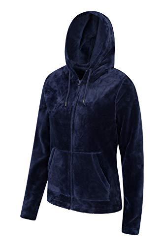 Mountain Warehouse Snaggle Damen-Fleecejacke mit Kapuze Marineblau DE 32 (EU 34) - 3