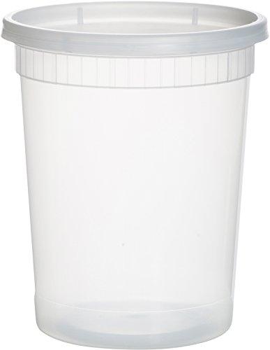 (paksh Neuheit Kunststoff-Behälter für Mittagessen/Große Food Container mit Deckel, Auslaufsicher, Mikrowelle, Gefrierschrank & spülmaschinenfest, 32Unze, 24Stück)