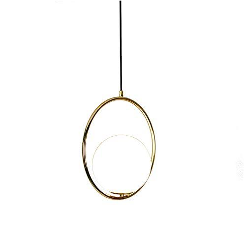 Moderne Milch weiße bereifte Lampshade Pendelleuchte, Double Circle Surround Design DREI-Color Dimming Kronleuchter, Metall überzogene Lampen-Körper-Licht Leuchte -