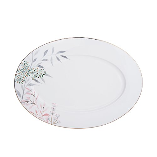 Mikasa Alaya Bone China Oval Serving Platter, 14-Inch Mikasa Antique White China