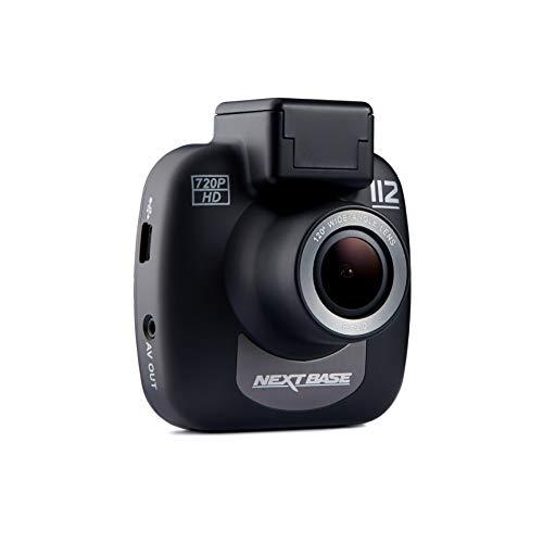 Nextbase 112 – 720p HD Dashcam Überwachungskamera & Auto-Kamera mit DVR Aufnahme Funktion – KFZ Frontkamera zur Überwachung (Schwarz)