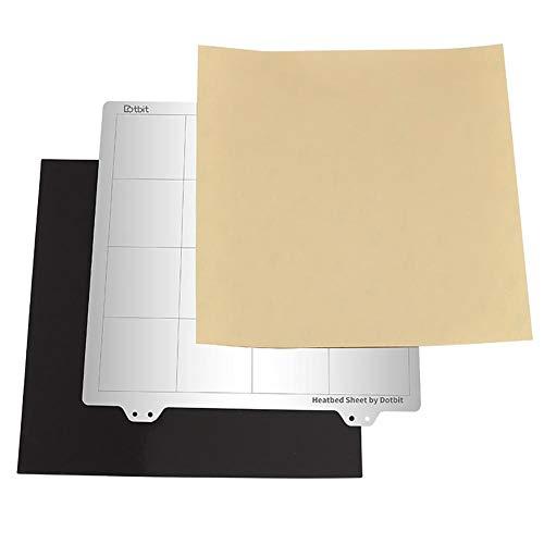 G-wukeer Magnetische Oberfläche Abnehmbare, Hochflexible 3D-Drucker Beheizte Bettdecke 3D-Drucker Warmbett-Plattform Stahlplatte Magnetischer Aufkleber B-Seite PEI Für Prusa I3 Wanhao Anet A8 A6 (Wurfmesser Alle)