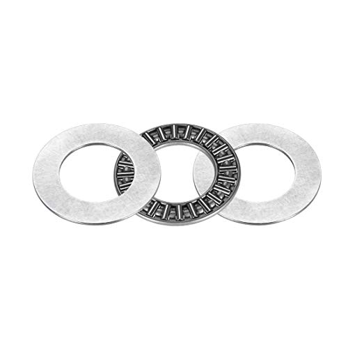 ZCHXD AXK2035+2AS Needle Roller Thrust Bearings with 2 Washers, 20mm Inner Diameter, 35mm OD, 4mm of Thickness, GCr15 Hardness -