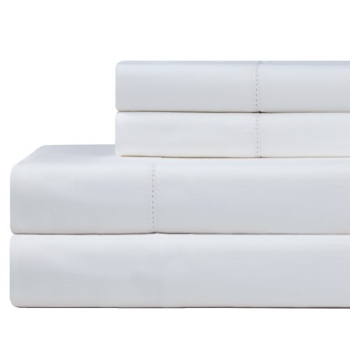 Celeste Home 610Fadenzahl Pima-Baumwolle Kissenbezüge, Standard, weiß, Baumwolle, weiß, King Size -