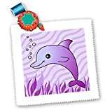 3dRose Janna Salak Designs Bettlaken, quadratisch, Delfin,