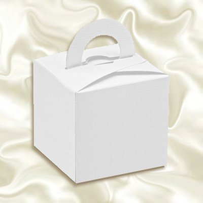10 Pack Luxury Finish Favour Gift Boxes in White *REDUCED TO CLEAR*