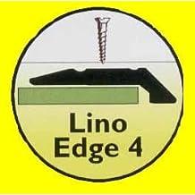 Carpet and Vinyl Metal Floor Edging - Vinyl Edging Strip Silver 900mm