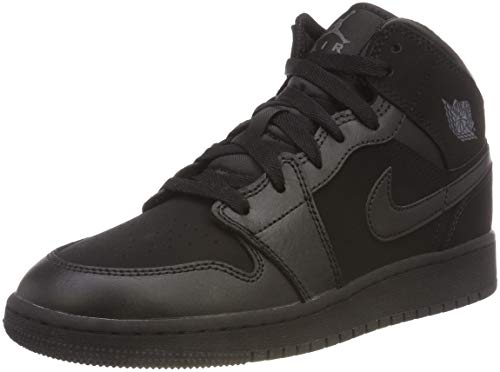 a19b0fad7a45 Nike Air Jordan 1 Mid (GS), Chaussures de Basketball garçon, Multicolore  Dark