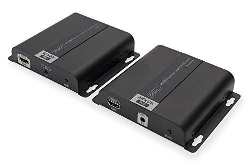 DIGITUS HDMI Extender Set - 4K Ultra-HD 30 Hz - Max. 3840 x 2160 Pixel - Netzwerk-fähig - PoE-Powered - HDTV & HDCP & IR -