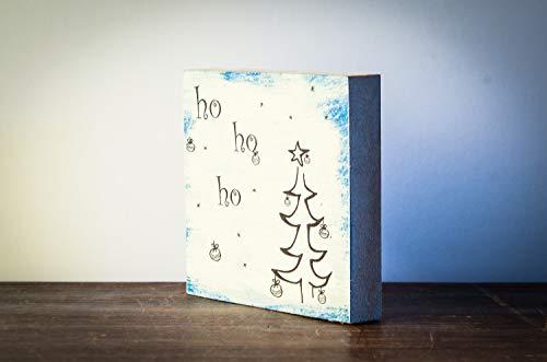 ho ho ho - Weihnachtsdeko Weihnachten modern minimalistisch Merry Christmas Geschenk Wichteln Weihnachtsdekoration Shabby-Stil gifts gift for her handmade