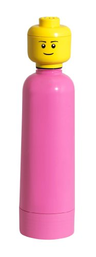 LEGO Lizenzkollektion 40401739 - Trinkflasche 0.4 Liter, mediumpink (Lego Flasche)