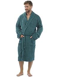 46538bb679 Mens Luxury 100% Cotton Towelling Bath Robe Dressing Gown Wrap Nightwear  HT566