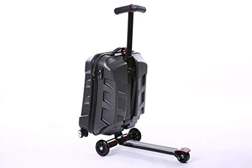Roller Koffer Multifunktions Tragbare Trolley Gepäck Große Kapazität Falten Business Diebstahl Reisetasche,Black