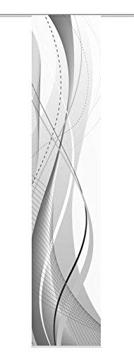 Home fashion 87152-703, tenda a pannello carlisle, tessuto decorativo, 300 x 60 cm, grigio