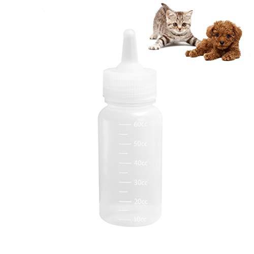 Bingpong 2 Sätze 60ml Welpen Kätzchen Hamster Babyflasche Silikon Schnuller Reinigungsbürste Haustier Tier Feeder Pflege Set Wasser Trinken Werkzeug -