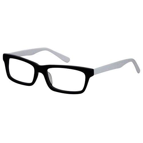 EyeBuyExpress Rectangle BlackWhite Reading Glasses Magnification Strength 1.5