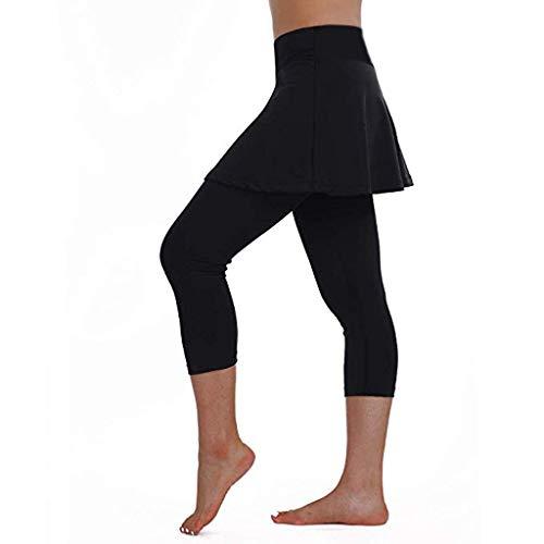 SALUCIA Leggings Damen High Waist Yogahose Push up 3/4 Capri Rock Sporthose Dreiviertel Yoga Jogginghose Sport Leggins Fitness Gym Hauteng Hosen Tights für Frauen