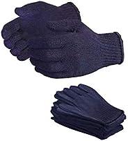 Bon Organik Reusable Blue Cotton Gloves (Pack Of 10)