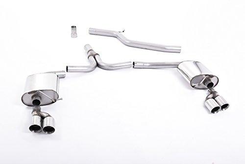 Sport Auspuff Milltek SSXAU299 Anlage ab KAT | DPF (TÜV) - A5 Coupé 2.0 TDI (125 kW /170 PS) | HSN: 0588 | TSN: AGK | A5 Coupé (B8) 2-Türer Coupe