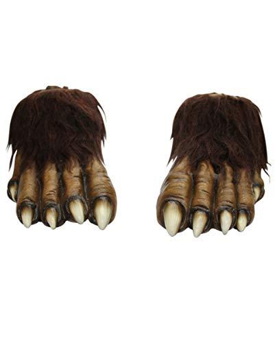 Werwolf Füße braun (Werwolf Kostüme Füße)