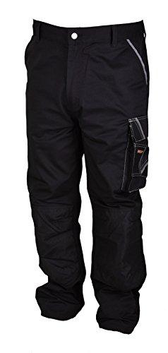 Iwea Stabile Arbeitshose Bundhose Berufshose Handwerker Cargohose Arbeitskleidung Grau IW063 (52/54 (L), Schwarz) - 5