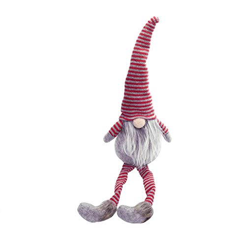 Tensay Weihnachtsdekoration gestreiften Hut hängen Bein kein