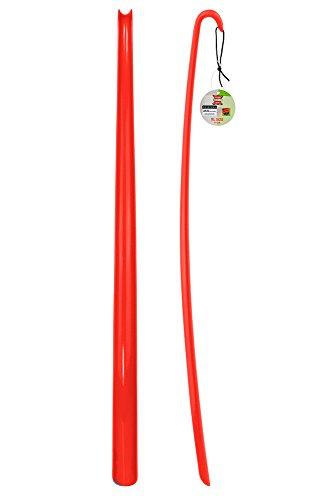 ASIS nettrade ASIS nettrade Schuhlöffel - Schuhanzieher - XXL - Rot - 1 Stück - aus hochwertigem Kunststoff - Extra lang - 77 cm