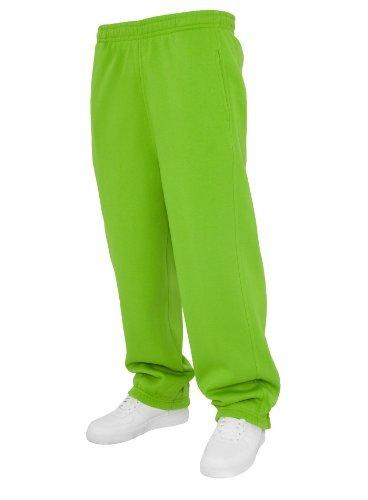 Urban Classics Sweatpants TB014B - cotone, verde chiaro, 65% cotone 35% poliestere, Uomo, XS