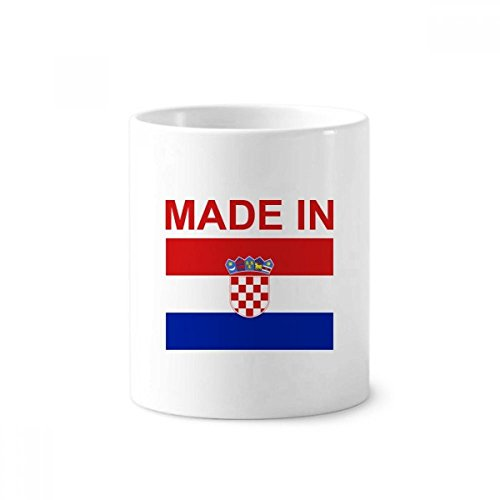 DIYthinker Hegestellt in Kroatien Land Liebe Zahnbürste Stifthalter Tasse Weiß Keramik Tasse 12...
