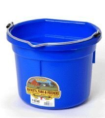 Miller Manufacturing P8FBBERRYBLUE Plastic Flat Back Bucket for Horses, 8-Quart, Berry Blue by Miller Manufacturing (English manual)