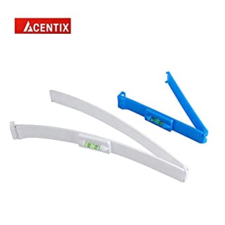 2PCS DIY ACENTIX Hair Clipper Trimmer Thinning Cutting Clip with Clear Protector Shield,Hair Guide Clipper Ruler,Hair Styling Ruler Guiding Tools